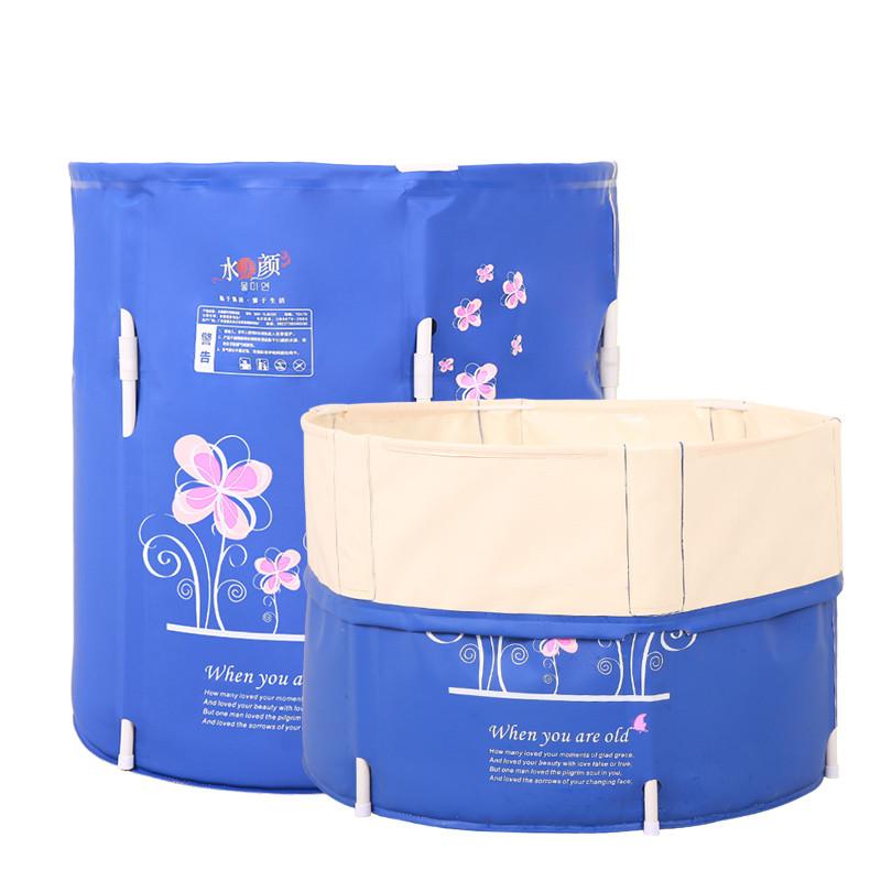 Portable bath TUBS Adult Bathtub Adult Folding Bathtub Banheira Inflavel Adultos Opblaasbare Bad Volwassenen 70*70cm Can Lift(China (Mainland))