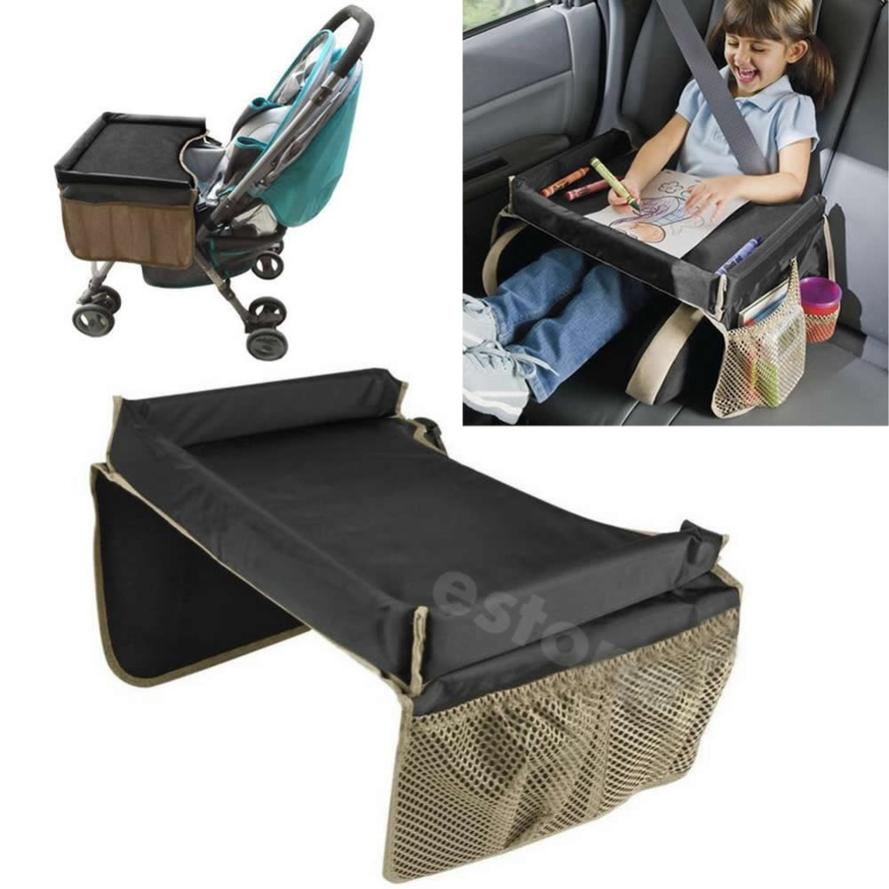 Free Shipping Kids Car Seat Snack and Play Travel Tray Table - On the Go Waterproof Organizer(China (Mainland))