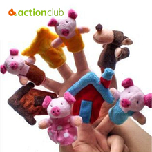 8Pcs Soft Plush Finger puppets show Toys hand puppet Educational Story-telling Toy fantoches For  baby dollHT142300MU(China (Mainland))