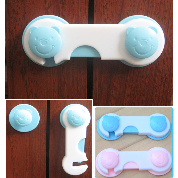 10pcs/lot Baby Safety Locks Doors Drawers Wardrobe Kids Plastic Lock For Toddler Child Cabinet Door Locks Free Shipping