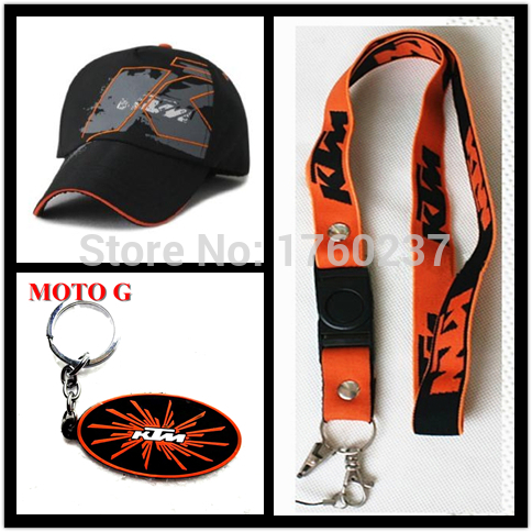 MOTO GP KTM Racing Cap black Outdoor Sports Motocross Hat & KTM phone lanyard & KTM key ring(China (Mainland))