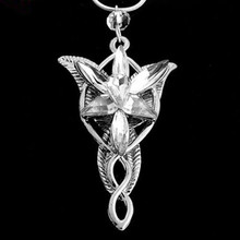 Fashion Jewlery Lord of the Rings Fairy Princess Arwen Evenstar Silver Tone Pendant statement Necklace