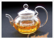 Borosilicate Glass Clear Teapot Tea Set Warmer 4 Mugs 10 Candles