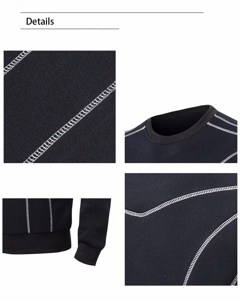 Fashion Men Causal Hoodies O-Neck Spring Cotton Sweatshirt Male Full Sleeve Regular Hoodies and pullover for Men