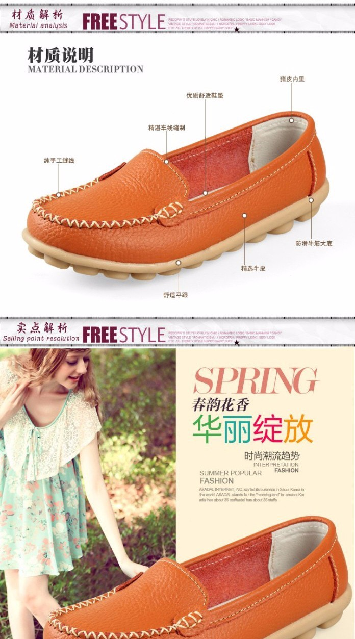 Women shoes flat shoes Genuine Leather flats big size 34-41 Basic flats comfortable ladies shoes 13 colors oxford shoes loafers