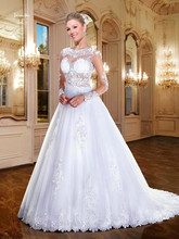 Buy Vestidos de Noiva Brazil Retail Long Sleeve Lace Wedding Dresses Sexy See Appliques Bridal Dresses Casamento ZY4708 for $165.75 in AliExpress store