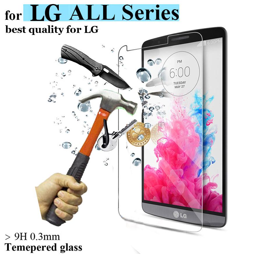 Tempered Glass 9H 0.3mm 2.5D Film for LG G3 D850 D855 G4 Note Stylus Mini G2 Tempered Glass(China (Mainland))