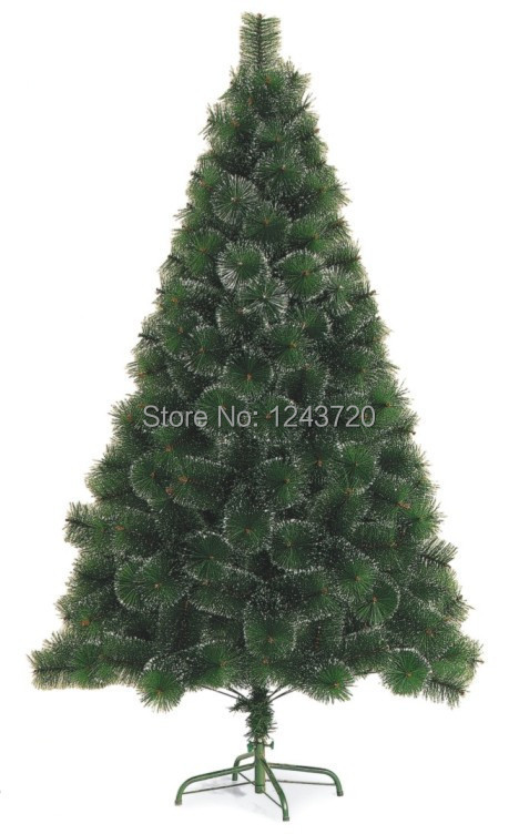 New 2015 Snow Pine Neddle Christmas Tree with Cone Decoration CE PET artificial Xmas Tree for Decor Christmas Party(China (Mainland))
