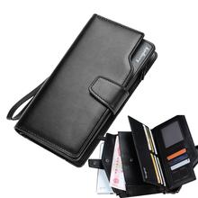 Design black genuine leather wallet men wallets long zipper dollar price purse women clutch carteira masculina porte monnaie