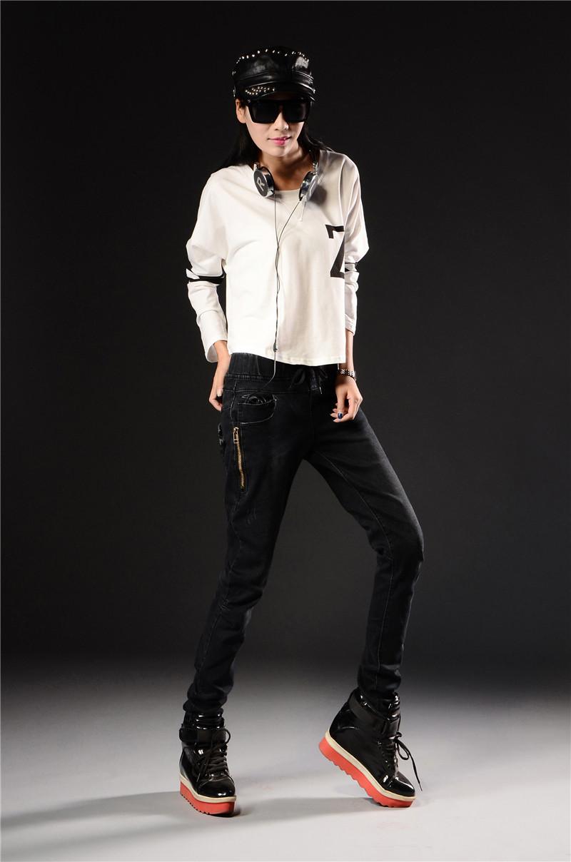 Скидки на Женские джинсы тонкий ноги стрейч карандаш брюки длинные студент Скидка продвижение Мода sexy джинсы продают как горячие пирожки