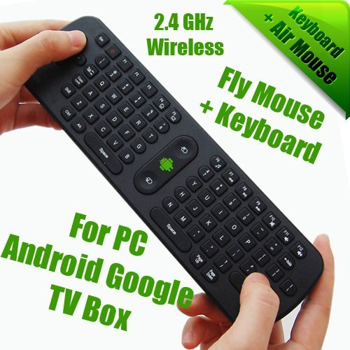 Android TV Box Partner, 2.4GHz Mini Wireless Bluetooth, Fly In Air Mouse + Keyboard for PC for Android Google TV BOX, Wholesale