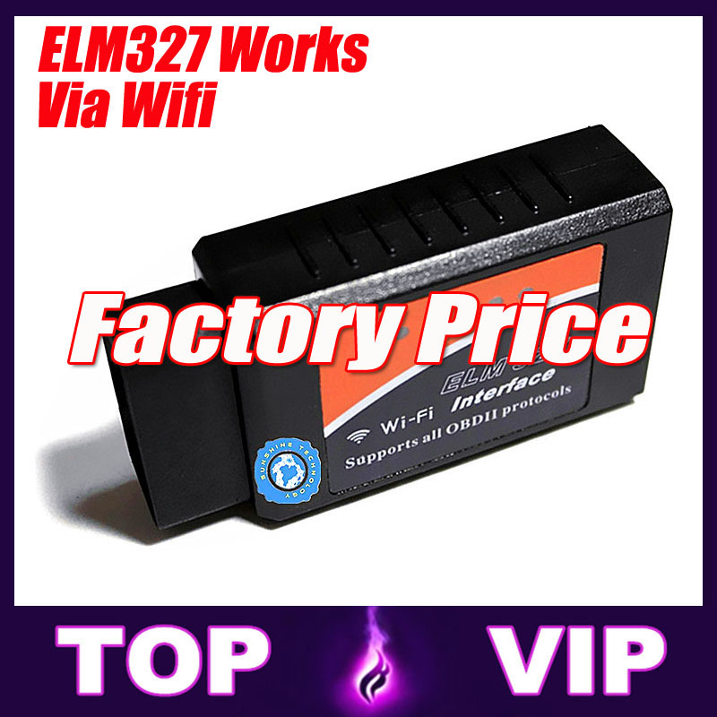 Best price and High Quality 3 Years Warranty ELM327 wifi OBD2 Auto Scan Tool ELM 327 Supports Android and iOS Torque(China (Mainland))