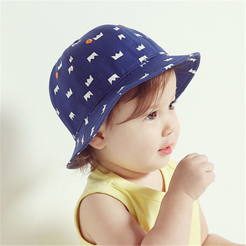 2016 new baby girl boy Bucket hats beach hat fishmen hat summer cap sunproof baby(China (Mainland))