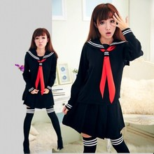 JK Japanese School sailor uniform fashion school class navy uniforms Cosplay girls suit / Set - Shenzhen Zzz Co,. Ltd store