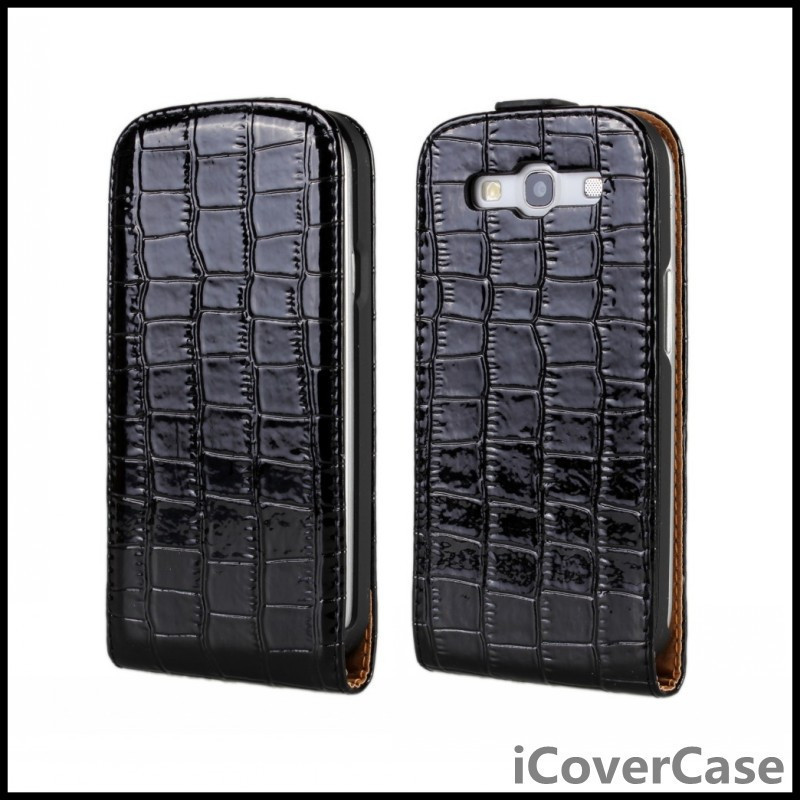 For Samsung Galaxy S3 Cover Cases Mobile Phone Wallet Bag Croco Leather Phone Case For Samsung Galaxy S3 i9300 Cases Cover Capa(China (Mainland))