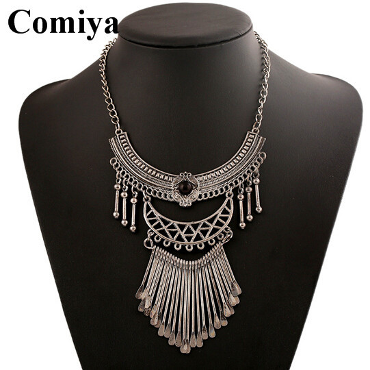 Trendy boho statement necklace silver plated summer jewelry necklaces & pendants vintage zinc alloy cc collares aliexpress - Comiya Official Store store