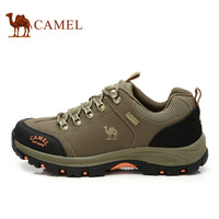 For camel outdoor  male autumn and winter sports daily casual genuine leather climbling shoes