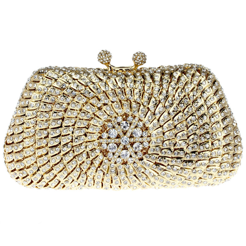 Free Courier Luxury Full Crystal Evening bag Women bag Day clutch Mini chain  <br><br>Aliexpress