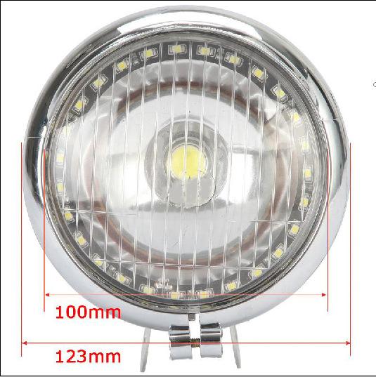 Chrome LED COB Spot Passing Light Angel Eye For Honda VTX 1300 C R S RETRO High Quality<br><br>Aliexpress