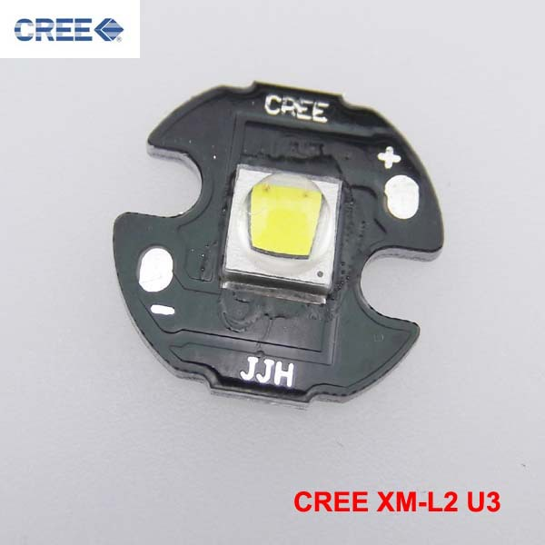 CREE XM-L2 U3 Cool White LED Emitter with 16mm Aluminum Star<br><br>Aliexpress