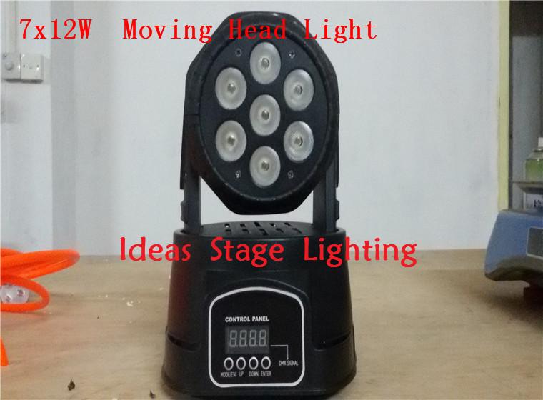 4pcs/lot led moving head mini wash 7x12w rgbw quad with advanced 7/12 channels(China (Mainland))