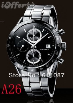 Free shipping - 100% New Tag Chronograph Movement Men's watch Stainless Steel Men's Watches Wristwatch A26