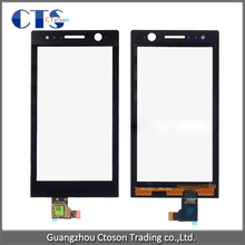 Mobile Phone Accessories Parts for Sony ST25i touch screen panel front touchscreen digitizer glass phones & telecommunications