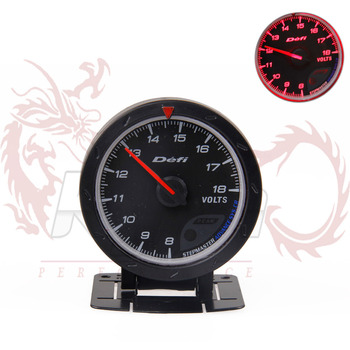 KYLIN STORE - 60MM DEFI Advanced CR Volt Gauge with Red LCD Display Black Face -1