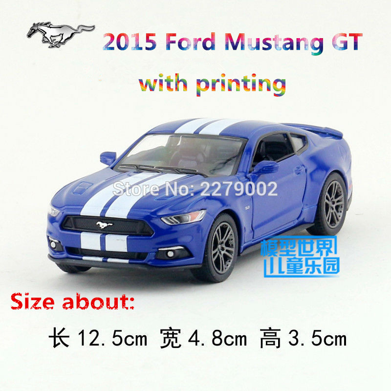 KINSMART Die Cast Metal Models/1:38 Scale/2015 Ford Mustang GT with printing toys/for children's gifts or for collections(China (Mainland))
