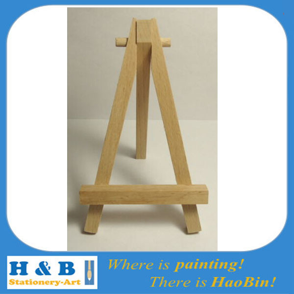 free shipping Mini Easel From Wood 7 X 12 Cm Painting Canvas Art Craft Table Stand(China (Mainland))