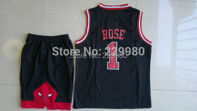 3 Colors Kid's Childrens Boys Girl's Basketball Jersey Suits Clothing Set Shirt+Basketball Shorts Print#1 - Children Jerseys store