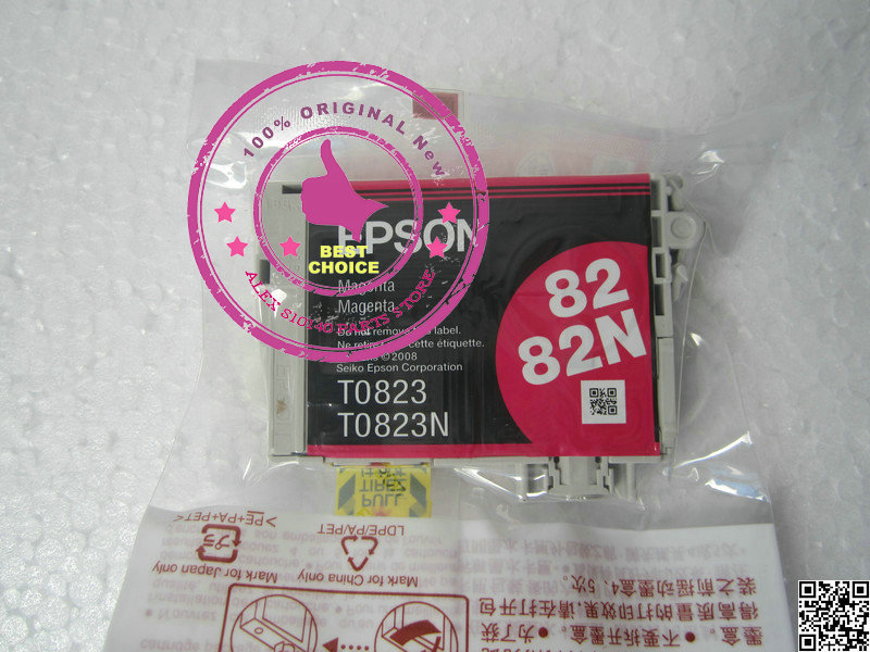 Eps Original Ink Cartridge 2pces/1set T0823 Red PHOTOR270 R290 R390 R590 RX690 Economical Practical(China (Mainland))