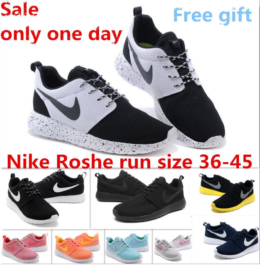 Original 2015 nikings roshing run one men and women red rOsherun Athletic tennis nikings roshing runing+shOe size36-45 free(China (Mainland))