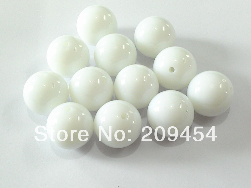 Factory Price 20mm100pcs/lot  Extra White Acrylic Solid Beads,Chunky Beads For Necklace<br><br>Aliexpress