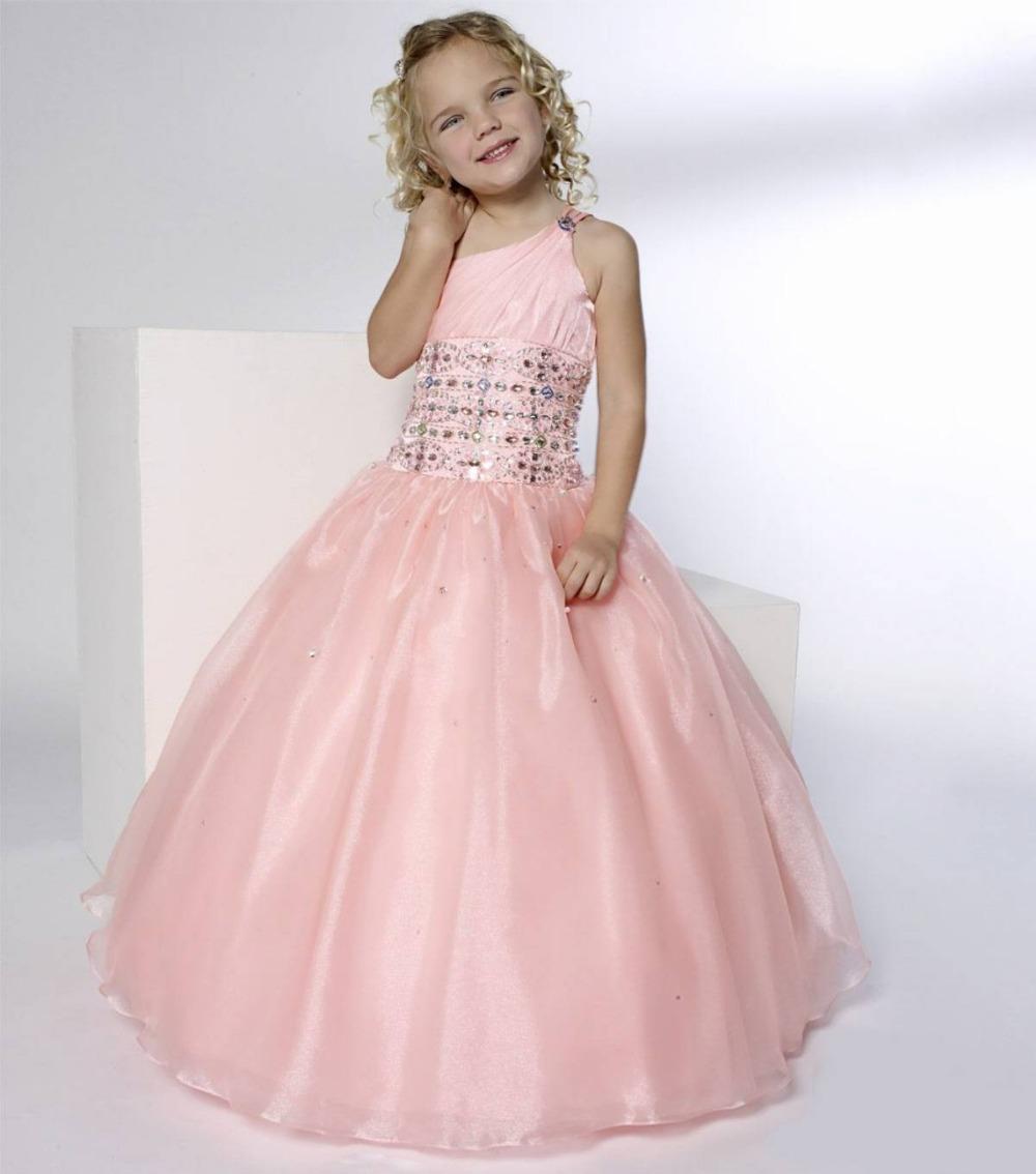 2015 girl party dress long formal dresses one shoulder girls prom dress beaded floor length. Black Bedroom Furniture Sets. Home Design Ideas