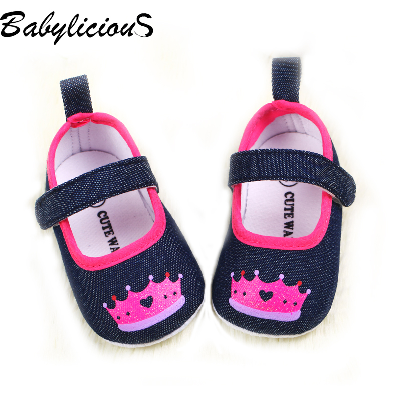 2015 new arrival Jeans shoes baby girls crown baby shoes high quality princess zapato Soft toddler footwear dropshipping(China (Mainland))