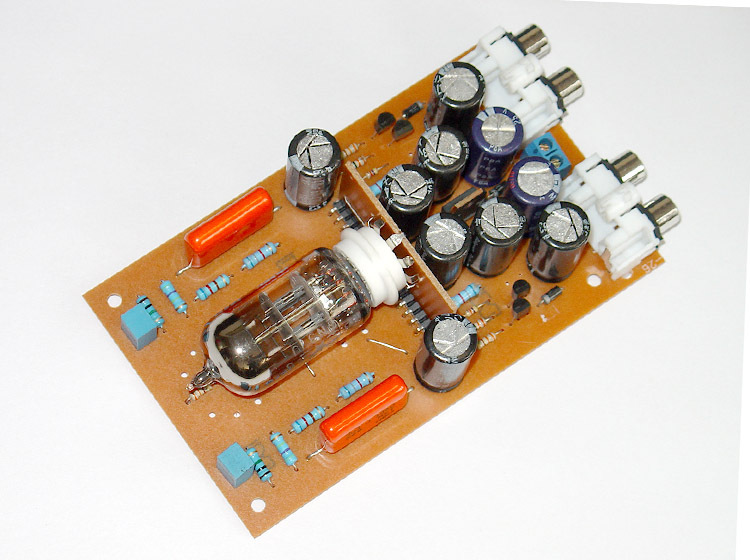 Reference British music fax DX-10 design 12AT7 tube preamp bile buffer finished board 12V single(China (Mainland))