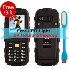 Original 2.4 Inch DTNO.I NO.1 A9 Flashlight 4800mAh Waterproof Shockproof Dustproof Rugged Unlock Phone Dual SIM 320 x 240(China (Mainland))