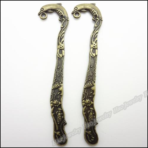 Wholesale 12 pcs Vintage Charms Dolphins bookmark Pendant Antique bronze Fit Bracelets Necklace DIY Metal Jewelry Making(China (Mainland))
