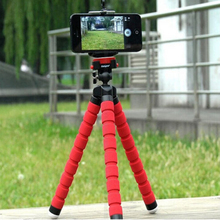 Mini Tripod Digital Camera Mobile Phone Stand Flexible Grip Octopus Monopod Flexible for Gopro Hero 3 4 for iPhone 6 Huawei p9(China (Mainland))