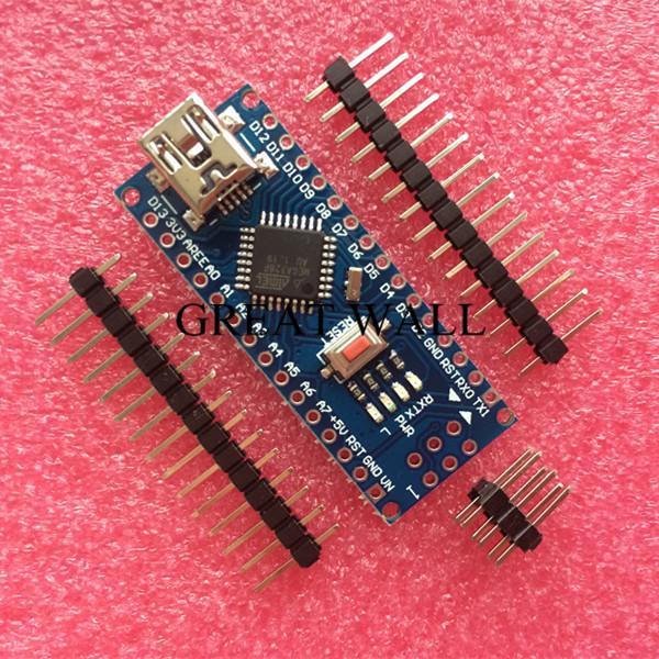 Бесплатная доставка! Nano контроллера 3.0 совместимый для arduino Nano CH340 USB драйвер без ...