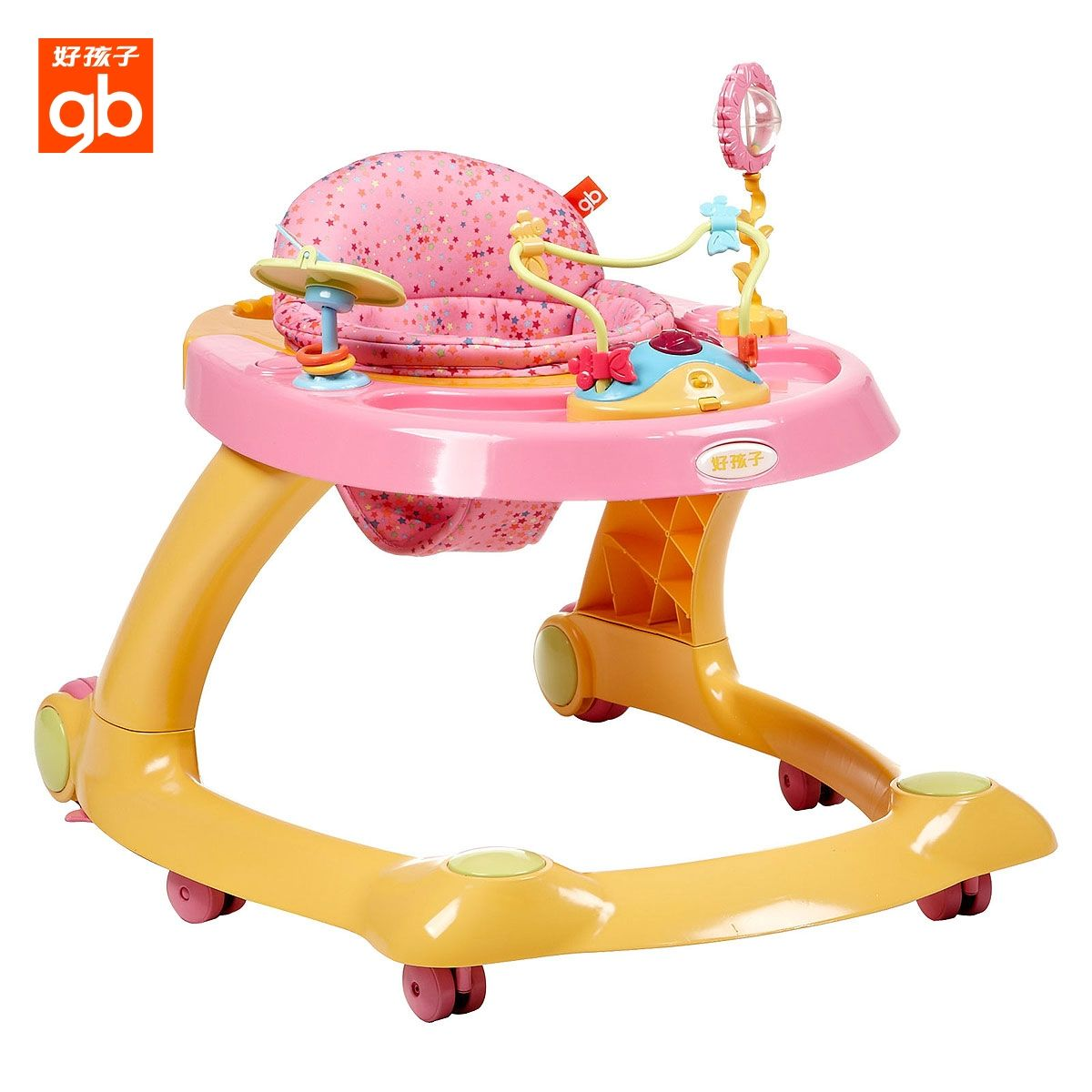 World famous brand gb baby walker XB606 multifunctional folding adjustable toddler trolley Free shipping(China (Mainland))