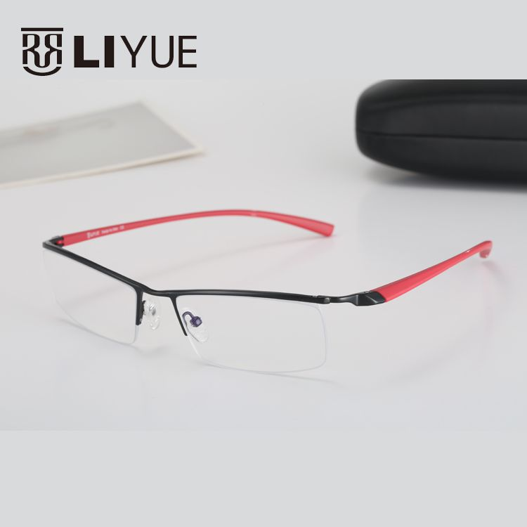 2017 fashion brand designer optical eyewear glasses frames clear lens eye glasses men myopia metal spectacles oculos de grau
