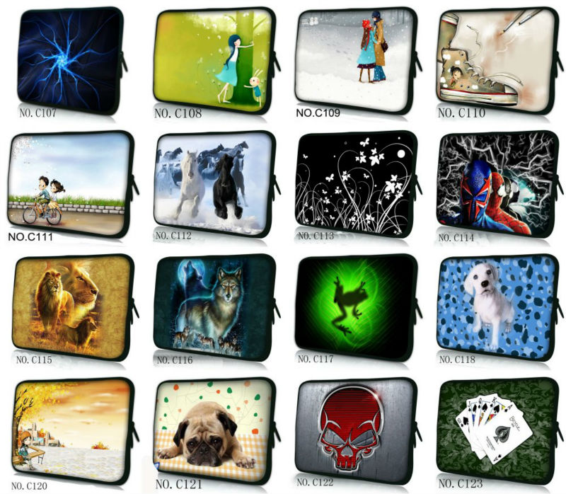"""Stylish Many design 10"""" Laptop Mini Case Sleeve Bag for 10.1"""" Acer/Sumsung/ASUS Tablet PC Netbook(China (Mainland))"""