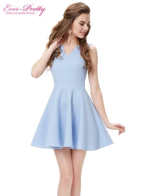 Коктейльные платья AP05084BL тех довольно милый мода v-образным вырезом атласа платье-линии ...