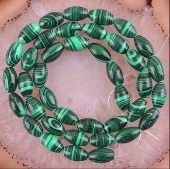 10pcs/lots Wholesale Perfect 8X12MM Gemstone Green Malachite Drum Loose beads 15'' beads jewelry making