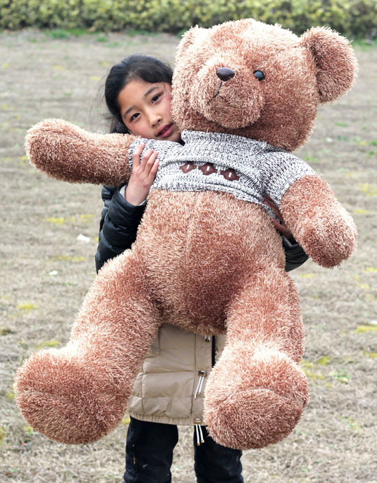 Фотография plush lovely teddy bear toy new sweater teddy bear doll hugging bear toy gift about 80cm