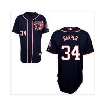 Mix Order Bryce Harper Jersey 10th Patch Authentic Washington Nationals Cool Base Jerseys White Blue Grey Red 164