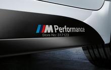 30 sets /lot Motosport M Performance car door Sticker Badge For BMW