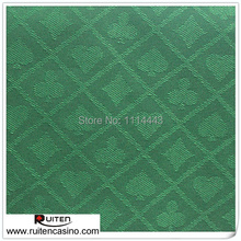 Suited Poker Speed Cloth 1.5M Width Casino layout---Green(China (Mainland))